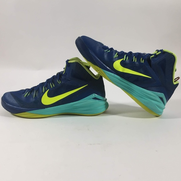 Nike Hyperdunk Blue   Yellow Basketball Shoes 3aeb2f938